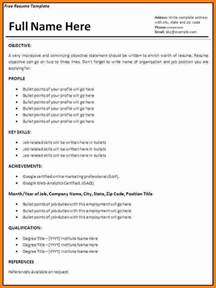 Resume Exles In Word Documents 7 Resume Format Ms Word Ledger Paper