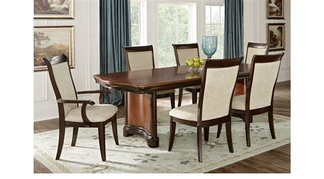 7 pc dining room set granby merlot 7 pc rectangle dining room expandable table