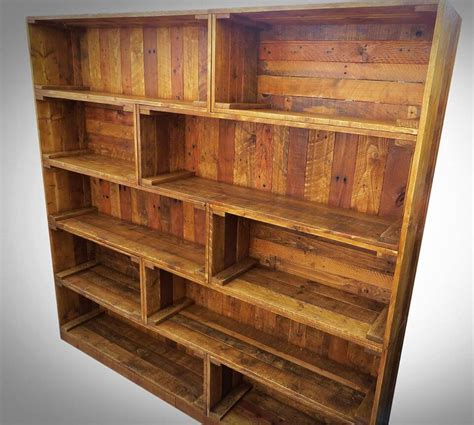 Large Bookshelf by Antique Pallet Bookcase Built In Crate Style
