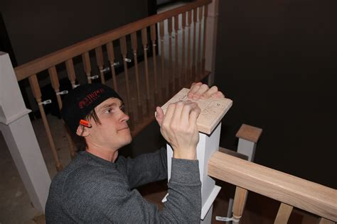 how to install a l post remodelaholic curved staircase remodel with new handrail