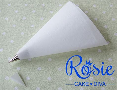 A Paper Piping Bag - make your own piping bags
