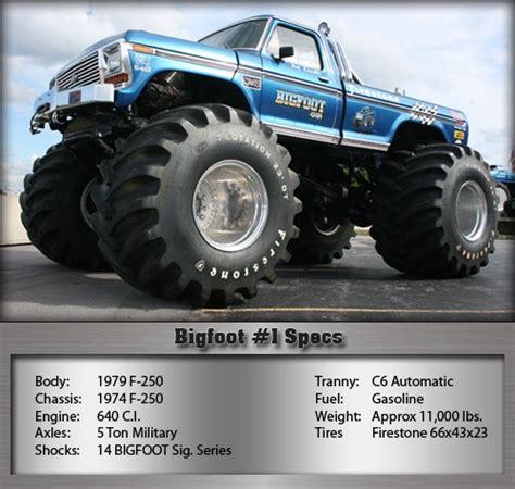 Bigfoot 1 Specifications Monster Trucks Pinterest