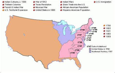 map of expansion of united states grolier atlas