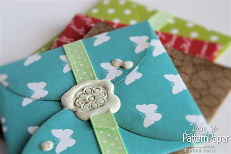 Hand Made Gift Cards - handmade gift card envelopes lady pattern paper scrapbooking paper