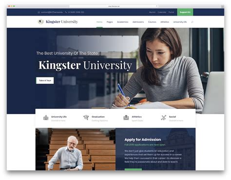 education website 30 best free and premium education website templates 2019