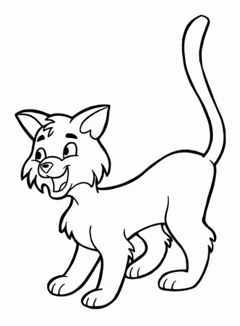 dibujos para pintar gatos dibujo de gato para colorear y pintar