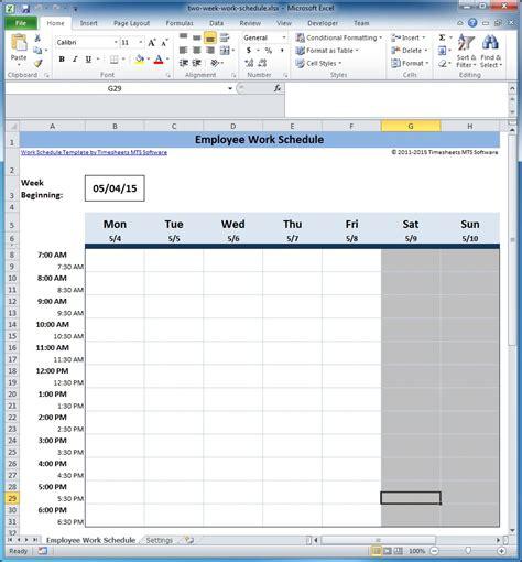 template restaurant employee schedule template excel training plan