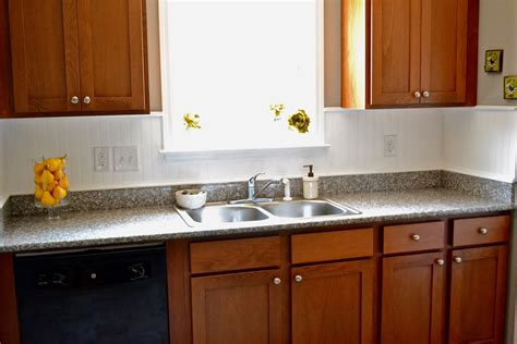 Beadboard Backsplash In Kitchen by Liz Marie Beadboard Backsplash