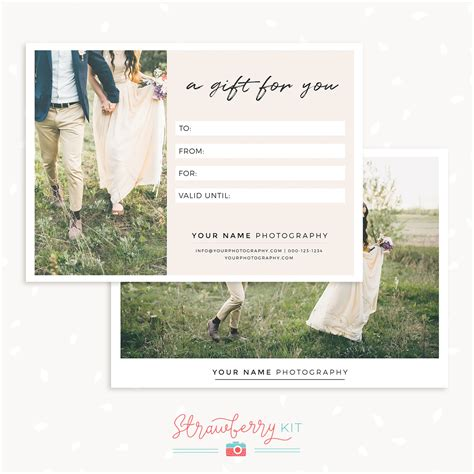 4 5 x 11 gift card template photography gift certificate template image collections