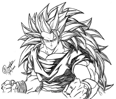 dragon ball z goku super saiyan 3 coloring pages