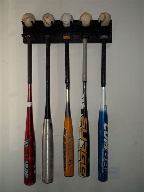 Baseball Bat Display Rack by Wood Baseball Size Bat Rack Display Up To 9 Bats 5 Balls Wall Ebay