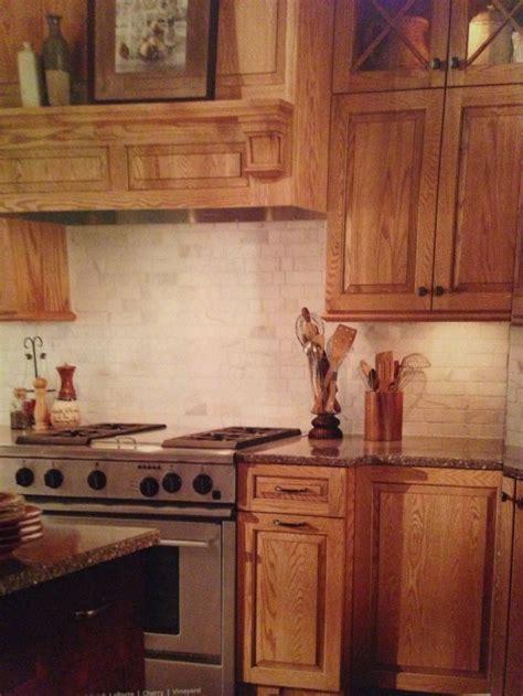 Kitchens With Backsplash Oak Cabinets With Carerra Back Splash Kitchen