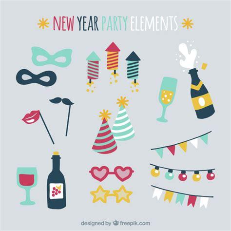 new year element jogo de elementos coloridos do partido para o ano novo