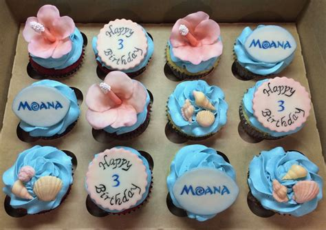 Bday Party Decorations At Home by Moana Birthday Cupcakes Cakecentral Com