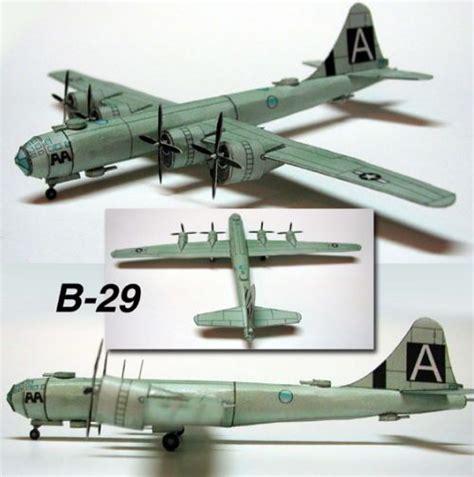 Papercraft Aircraft - boeing b 29 superfortress papercraftsquare free