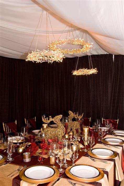 Christmas dinner setup in my garage   Birthday party ideas