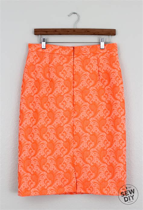 diy brocade pencil skirt sew diy