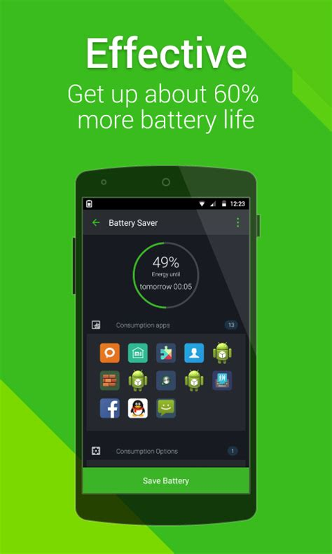 battery saver for android mobile power battery battery saver free android app android freeware