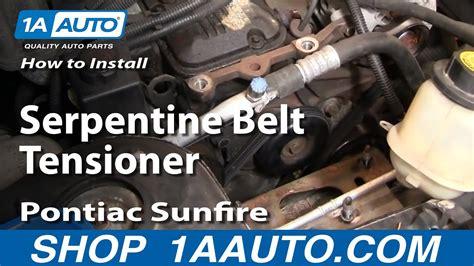install replace serpentine belt tensioner chevy