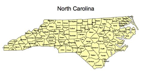 printable maps north carolina printable map of counties in nc