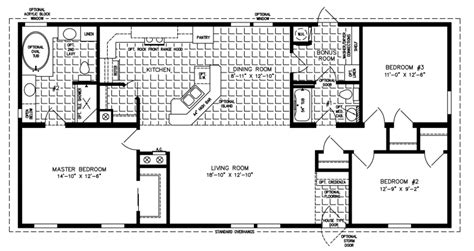 1494 sq ft manufactured home floor plan