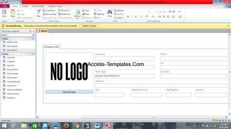 invoice tracker template ms access database invoice tracking template access