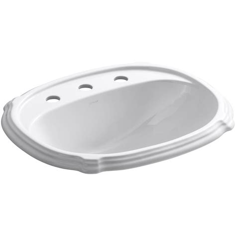 kohler portrait bathtub kohler portrait ceramic drop in bathroom sink in white