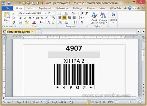 Cara Membuat Barcode Di Hp | blog gaul cara membuat barcode di microsoft excel tanpa