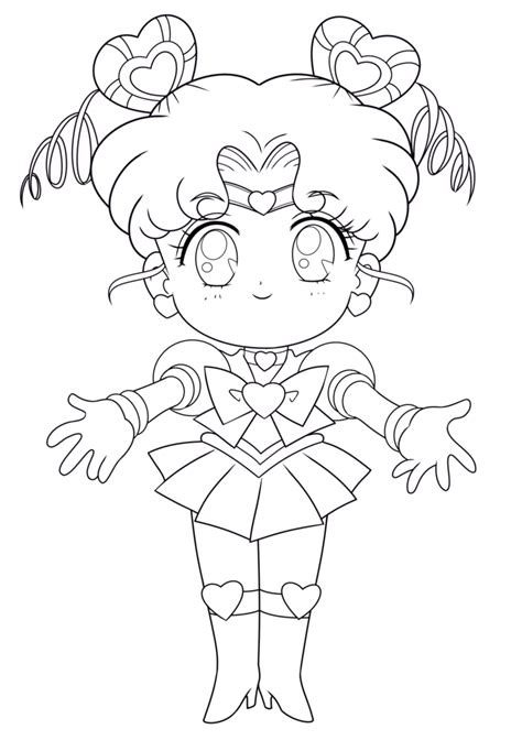 Coloriage Sailor Chibi Moon à imprimer