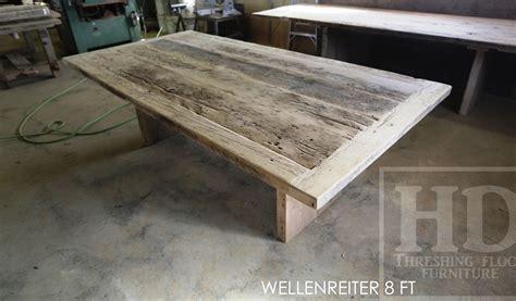 Wooden Boardroom Table Boardroom Table In Burlington Ontario Made From Reclaimed Hemlock