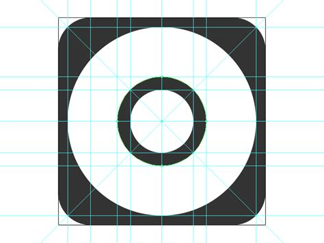 Apple Share Symbol App Icon Template Illustrator