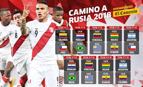 Calendario Eliminatorias 2018 Seleccion Colombia Selecci 243 N Peruana Descarga Fixture De Per 250 De