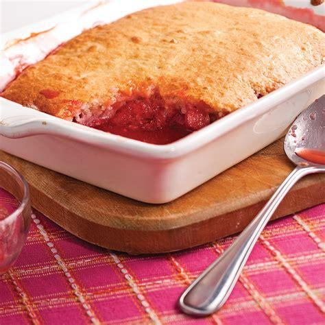 rhubarbe cuisine pouding aux fraises et rhubarbe recettes cuisine et
