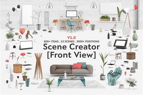 room creator interior scene creator front view