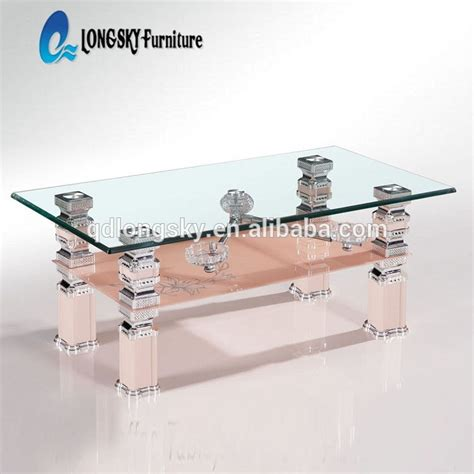 table ls glass base ls 1097 new design glass teapoy tea poi cheap price coffee