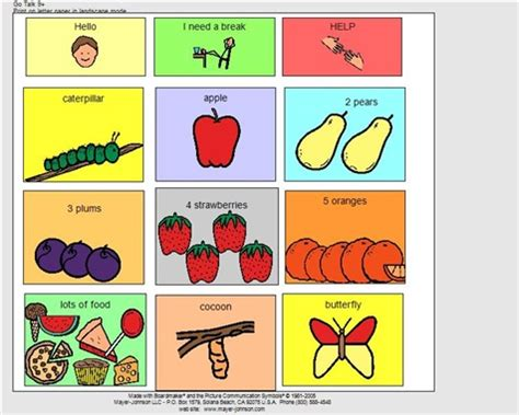 17 Best Images About Boardmaker On Pinterest Feelings Scissors And School Pictures Go Talk 9 Template