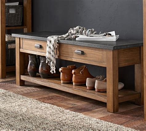 pottery barn benches pottery barn entryway furniture sale save 15 on furniture organizing must haves