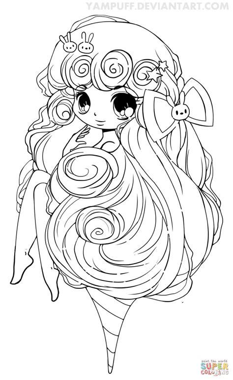 chibi lollipop girl coloring page free printable chibi cotton candy girl coloring page free printable