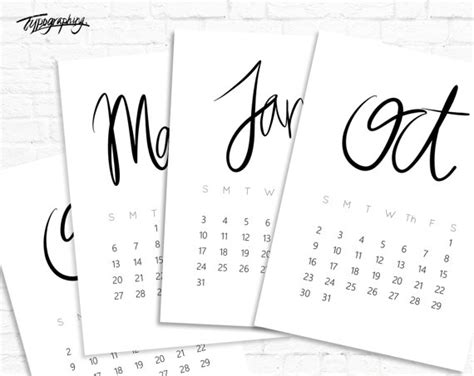 2016 calendar sale 50 off printable wall by dontpanicorganize sale 50 off limited time only 2016 minimalist typography