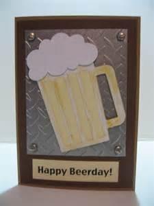 handmade birthday cards for guys beer metal look happy