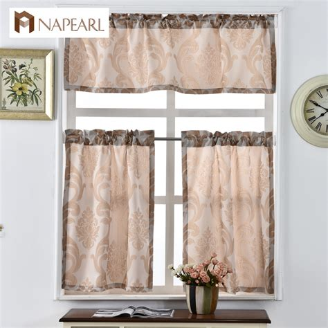 Kitchen Cafe Curtains Modern Kitchen Curtains Shade Window Treatments Modern Door Jacquard Thick Cafe Curtain Panel