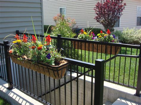 deck railing planter box brackets railing stairs and