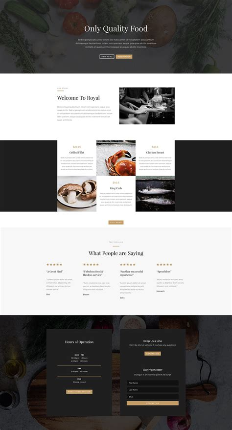 home page layout design view located on the ribbon is referred to as download a beautiful free divi restaurant layout pack