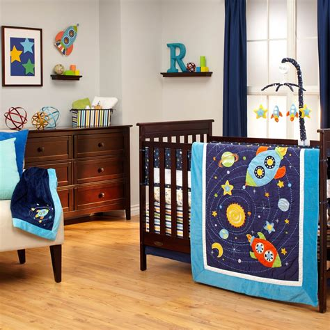 nojo crib bedding set nojo out of this world 4 pc crib bedding set bedding