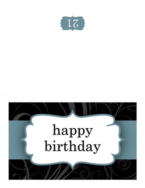 powerpoint half fold card template birthday card blue ribbon design template for powerpoint