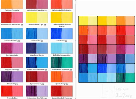 paint names paint colors and names ideas paint stain charts 158037 rgb color code list png 642 215 895