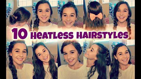 10 back to school heatless hairstyles