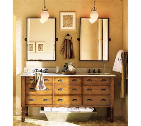 pottery barn bathroom mirrors kensington pivot mirror pottery barn two bronze tilt