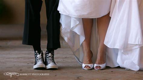 in white wedding dress and white peep toe bridal