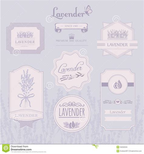 lavender background product label packaging design stock